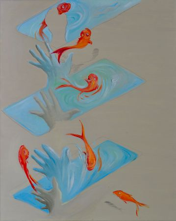 Red fish, 2014. Oil on canvas, 120 x 80 cm.