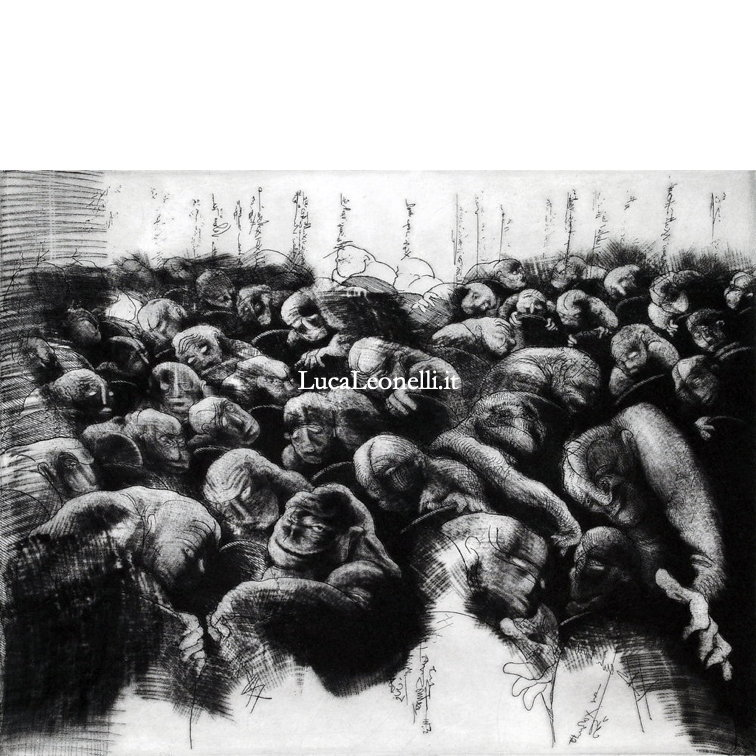 "<a hreflang=""en"" href=""https://lucaleonelli.org/en/artwork/engraving/mezzotint"">Public murmuring, 2011</a>. Etching and mezzotint"