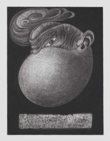 Eggman. Etching, mezzotint and drypoint, <br />plate 19.7 x 14.8 cm (40 x 30 cm).